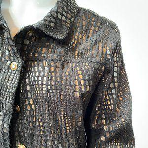Petite Sized Croc Pattern Jacket - size 10P